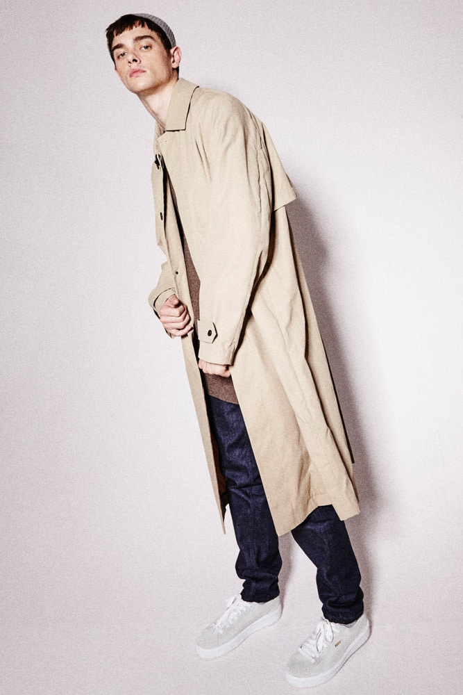 WAXED LONG COAT BEIGE