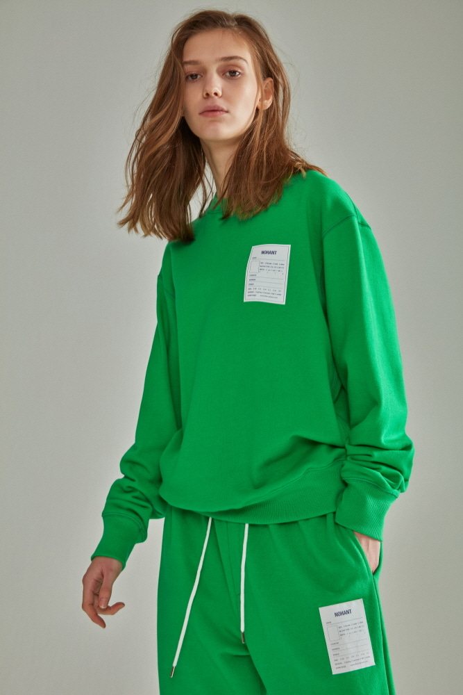 NAME LABEL SWEATSHIRT GREEN