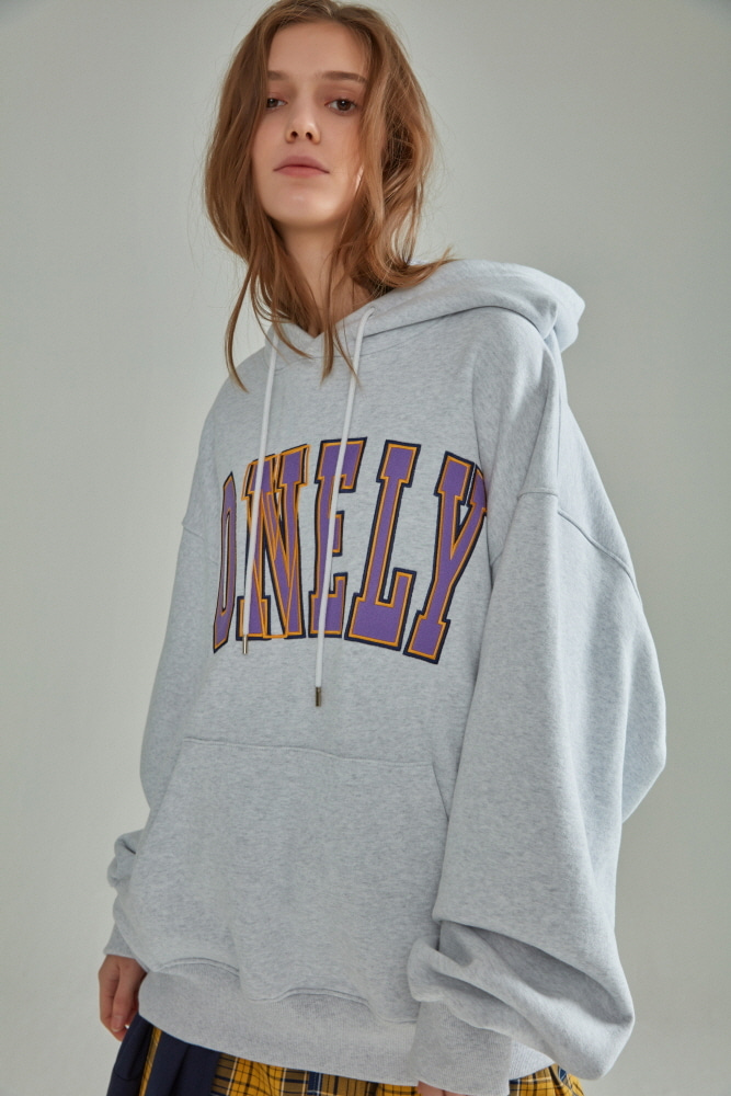 LONELY/LOVELY HOODIE LIGHT GRAY
