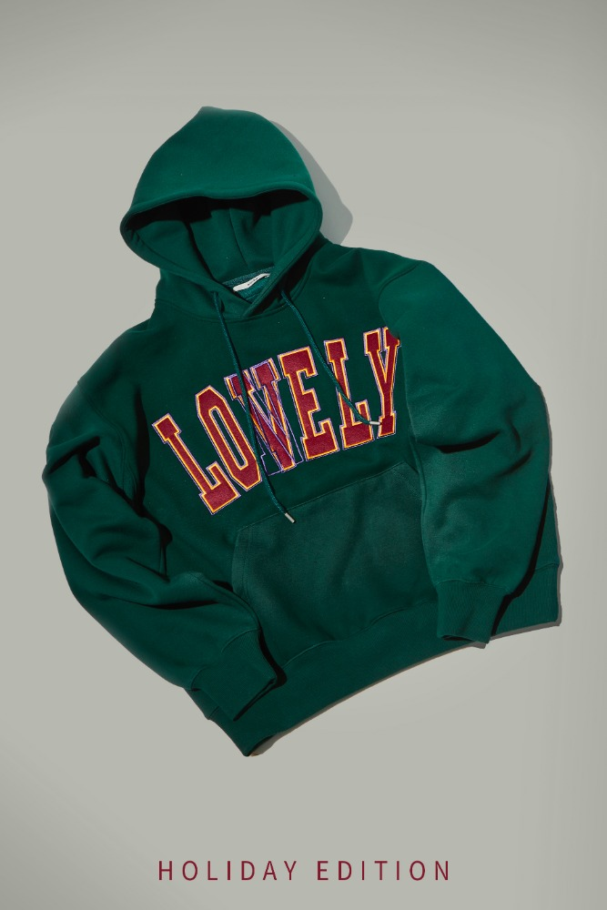 LONELY/LOVELY HOODIE HOLIDAY EDITION GREEN