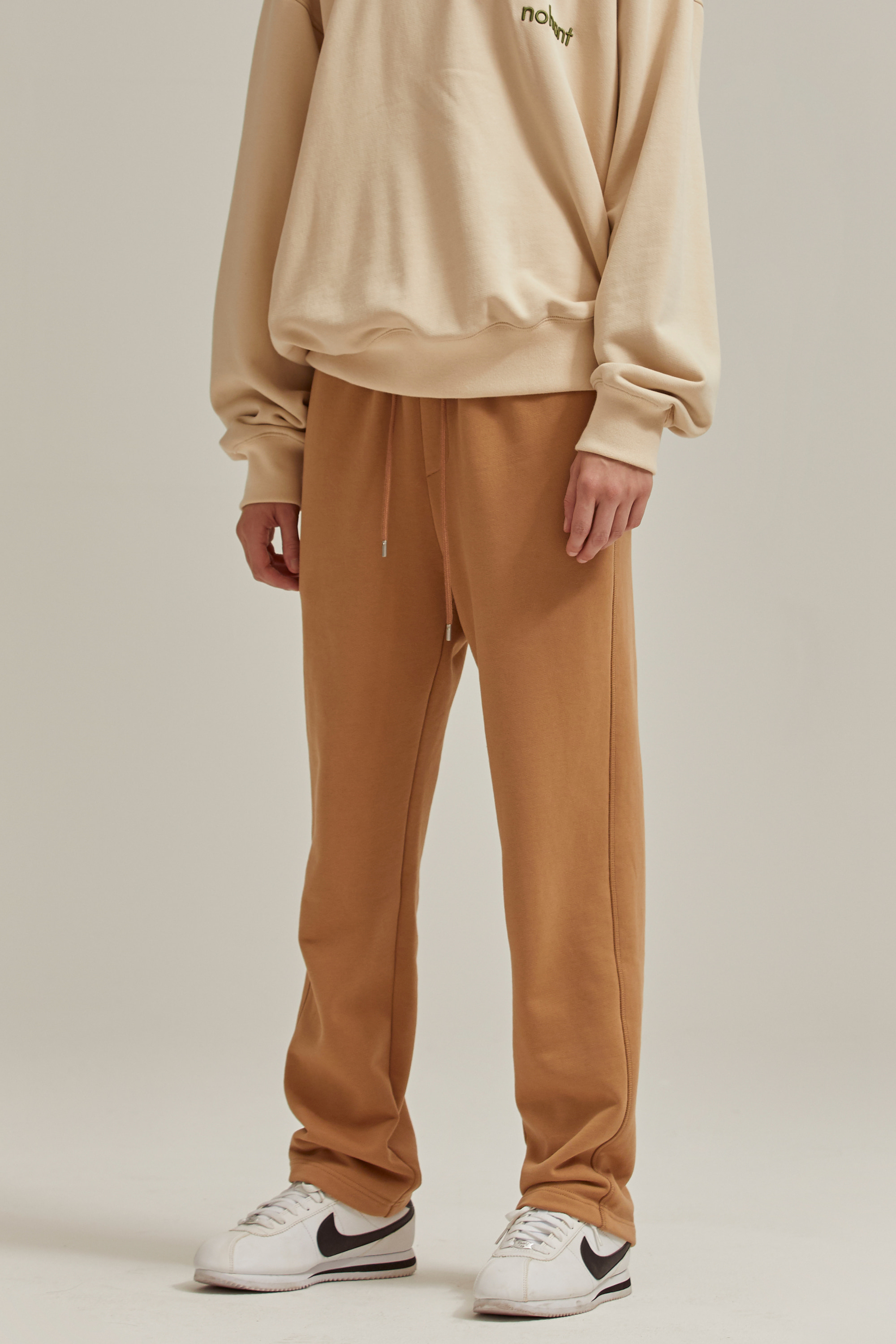 LOGO SWEATPANTS BROWN
