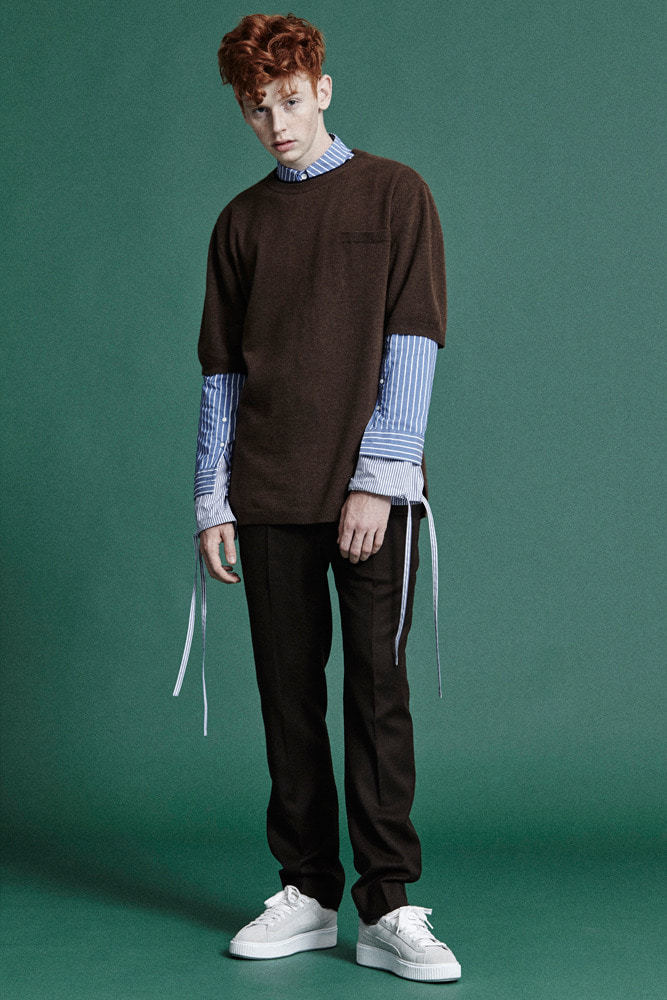 WINTER KNIT T-SHIRTS BROWN