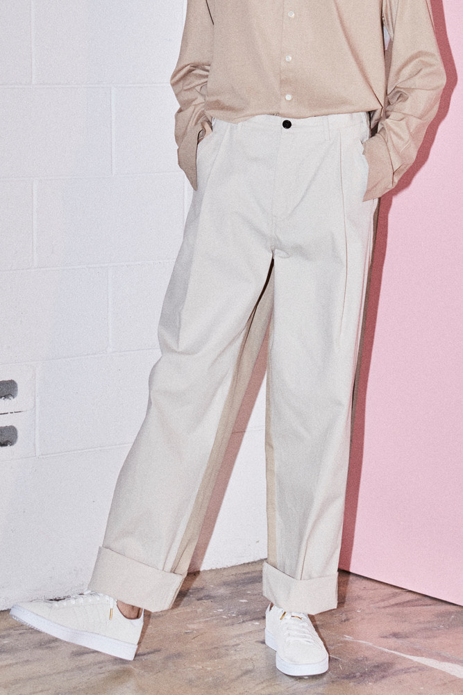 DO-NOT-REVERSE COTTON PANTS BEIGE