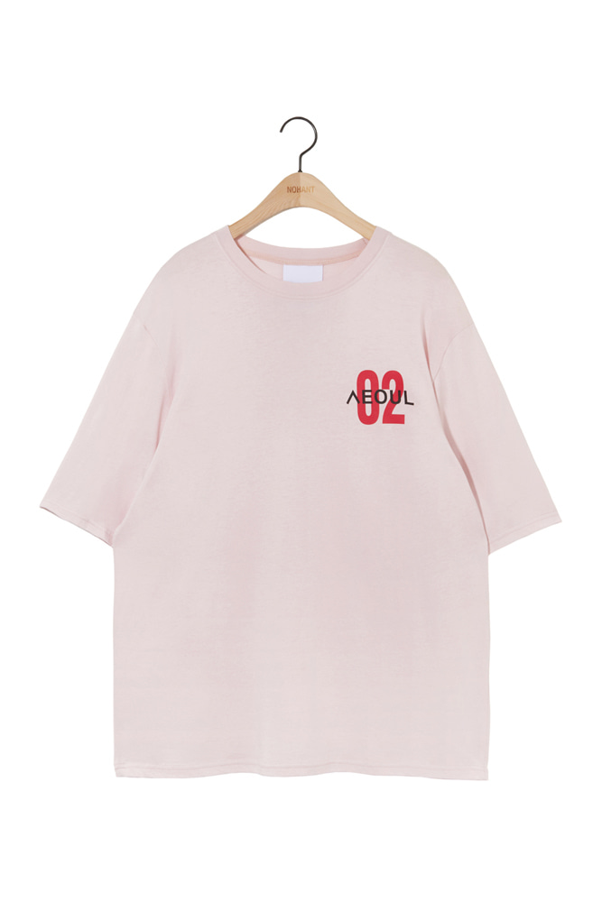 02 SEOUL T SHIRT LIGHT PINK
