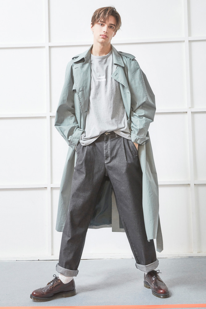 OVERSIZED TRENCH COAT GREEN