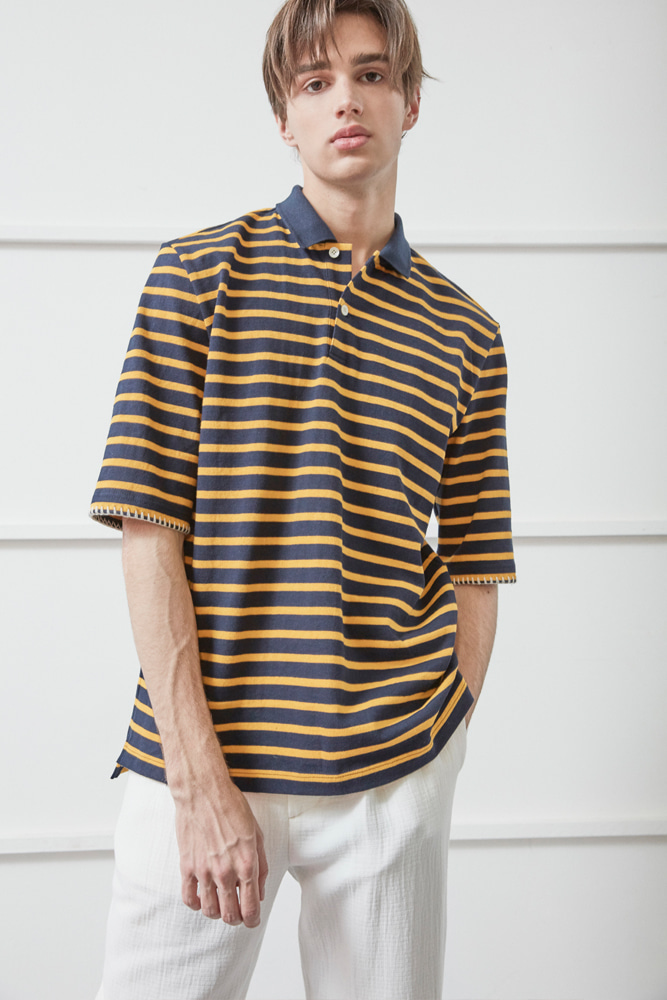 WHIPSTITCH PIQUE SHIRT STRIPE