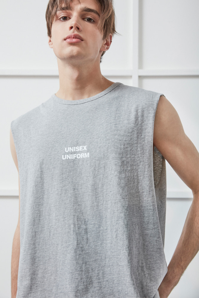 UNISEX UNIFORM SLEEVELESS GRAY