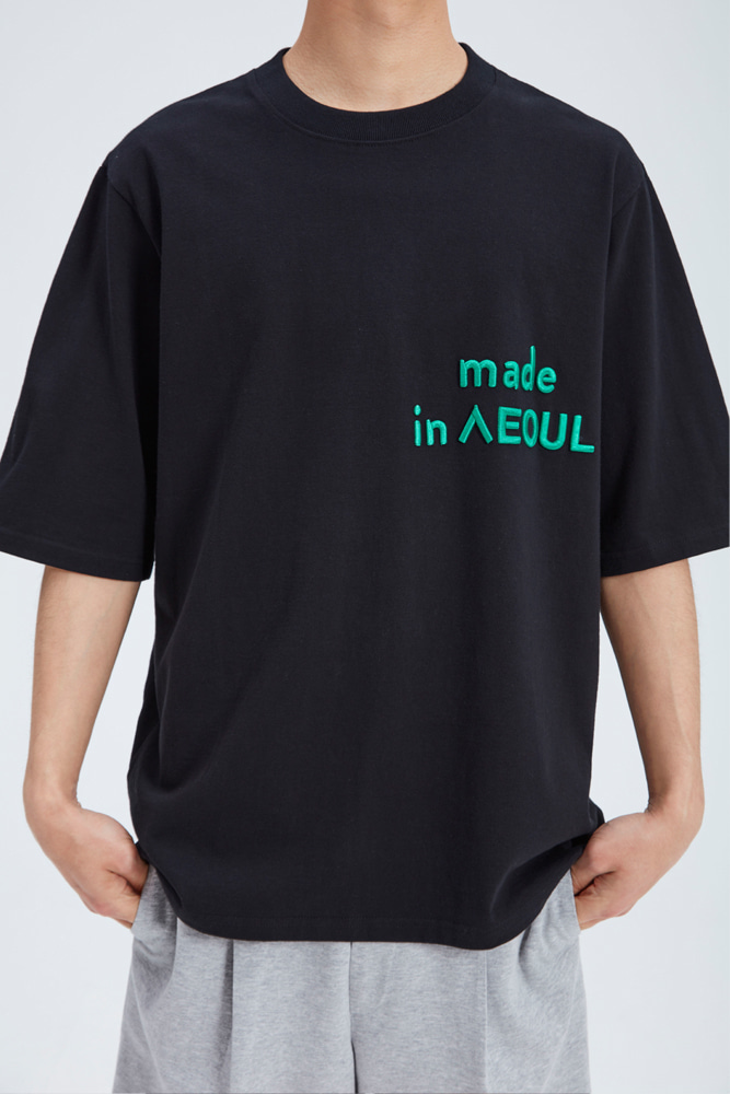 MADE IN SEOUL T SHIRT BLACK