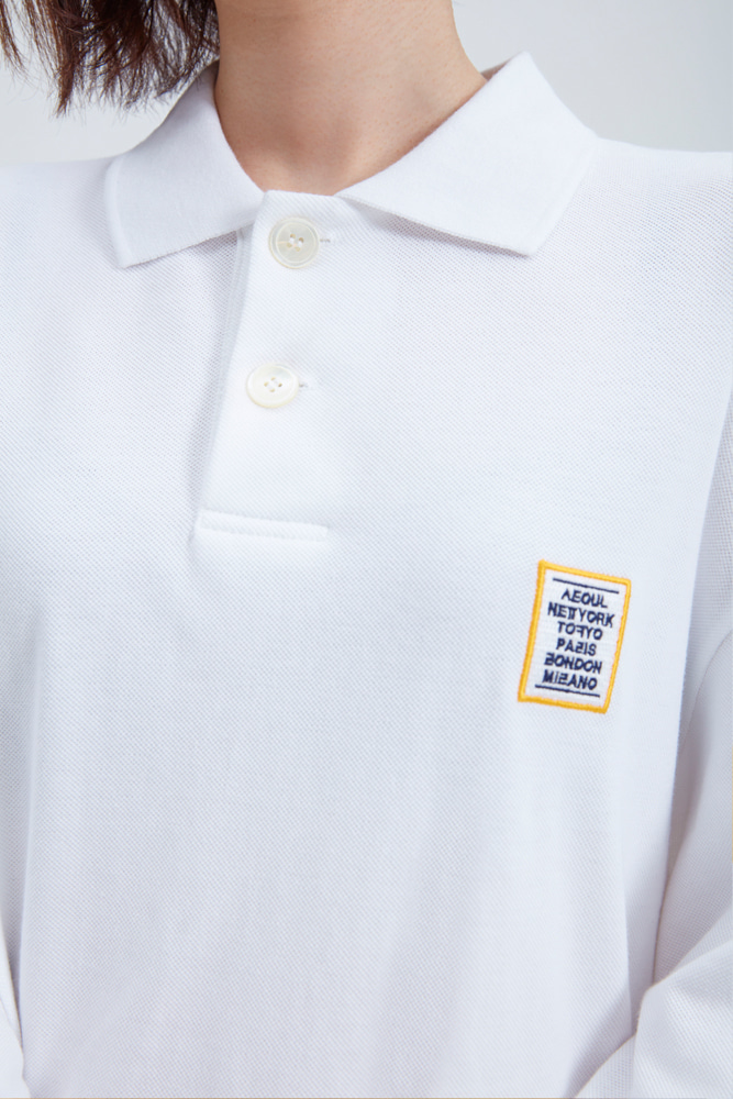 LOVE CITY WAPPEN PIQUE SHIRT WHITE