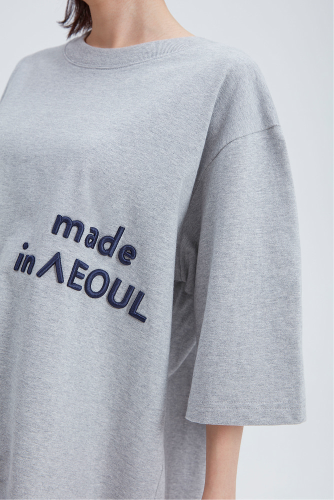 MADE IN SEOUL T SHIRT GRAY