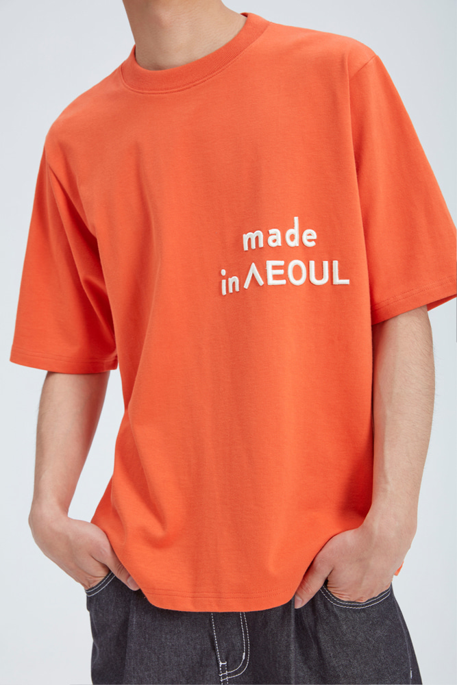 MADE IN SEOUL T SHIRT ORANGE
