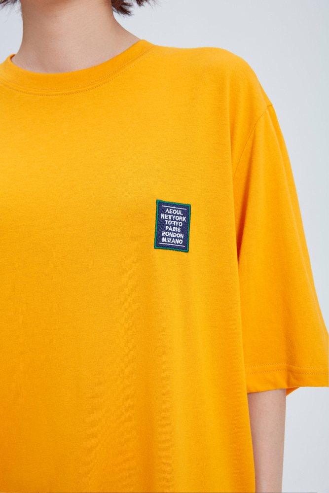 LOVE CITY WAPPEN T SHIRT MUSTARD