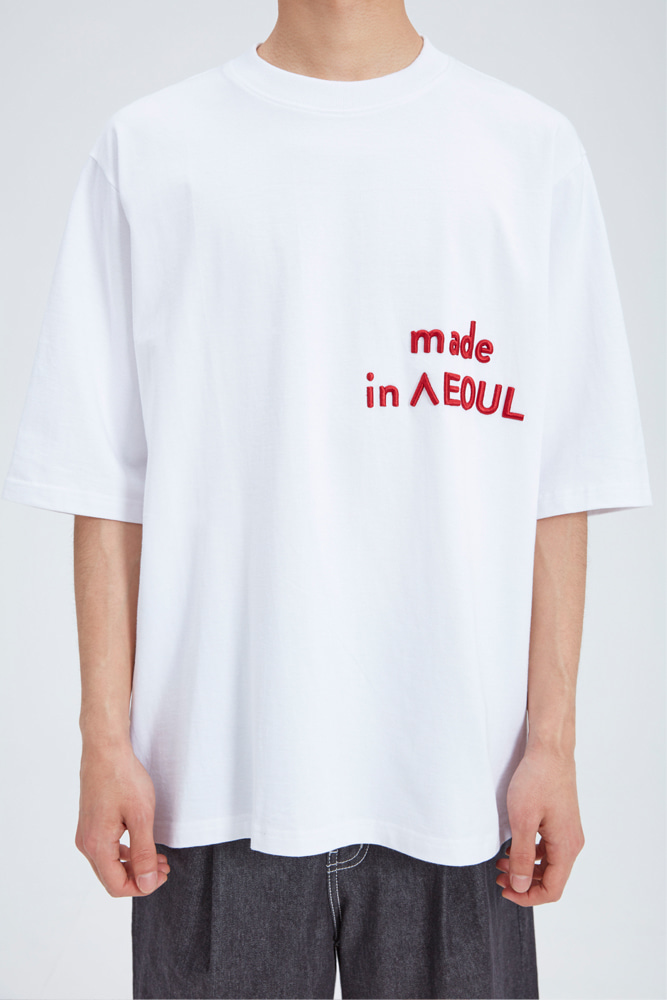 MADE IN SEOUL T SHIRT WHITE