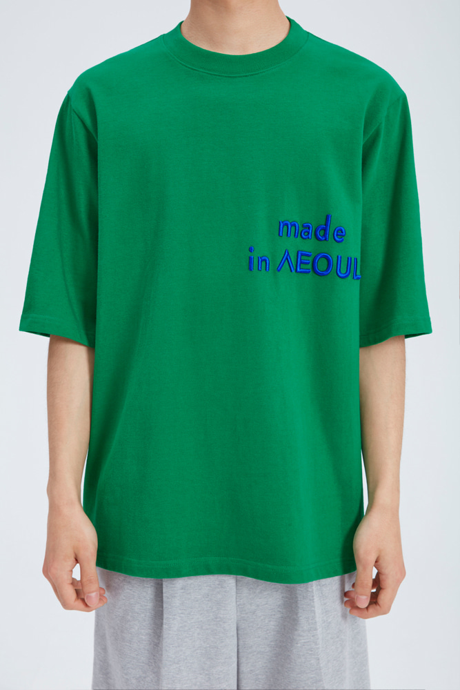 MADE IN SEOUL T SHIRT GREEN
