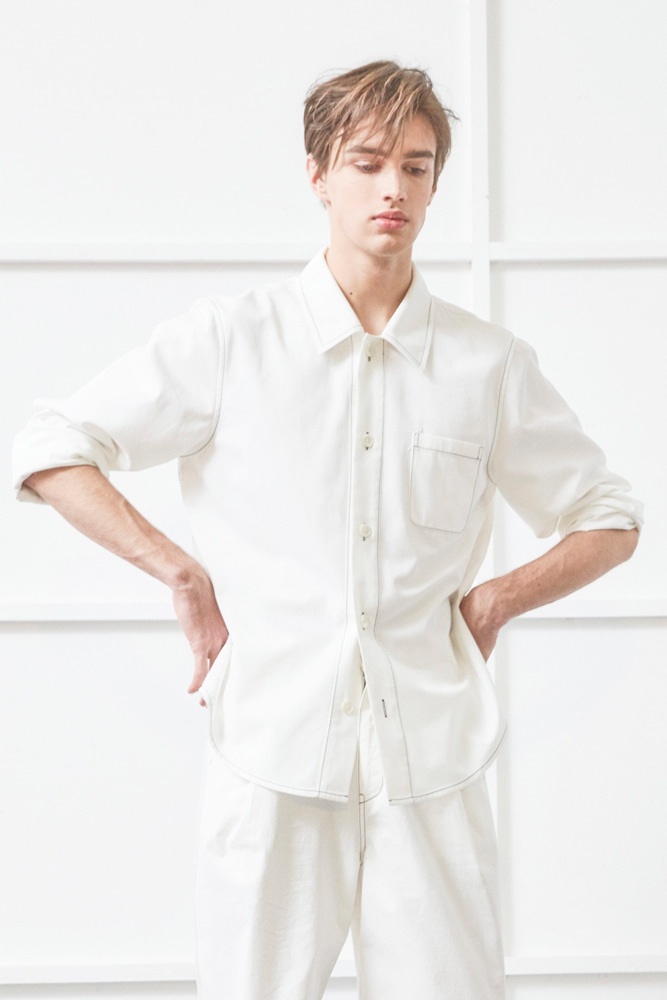 DETACHABLE SHIRT WHITE