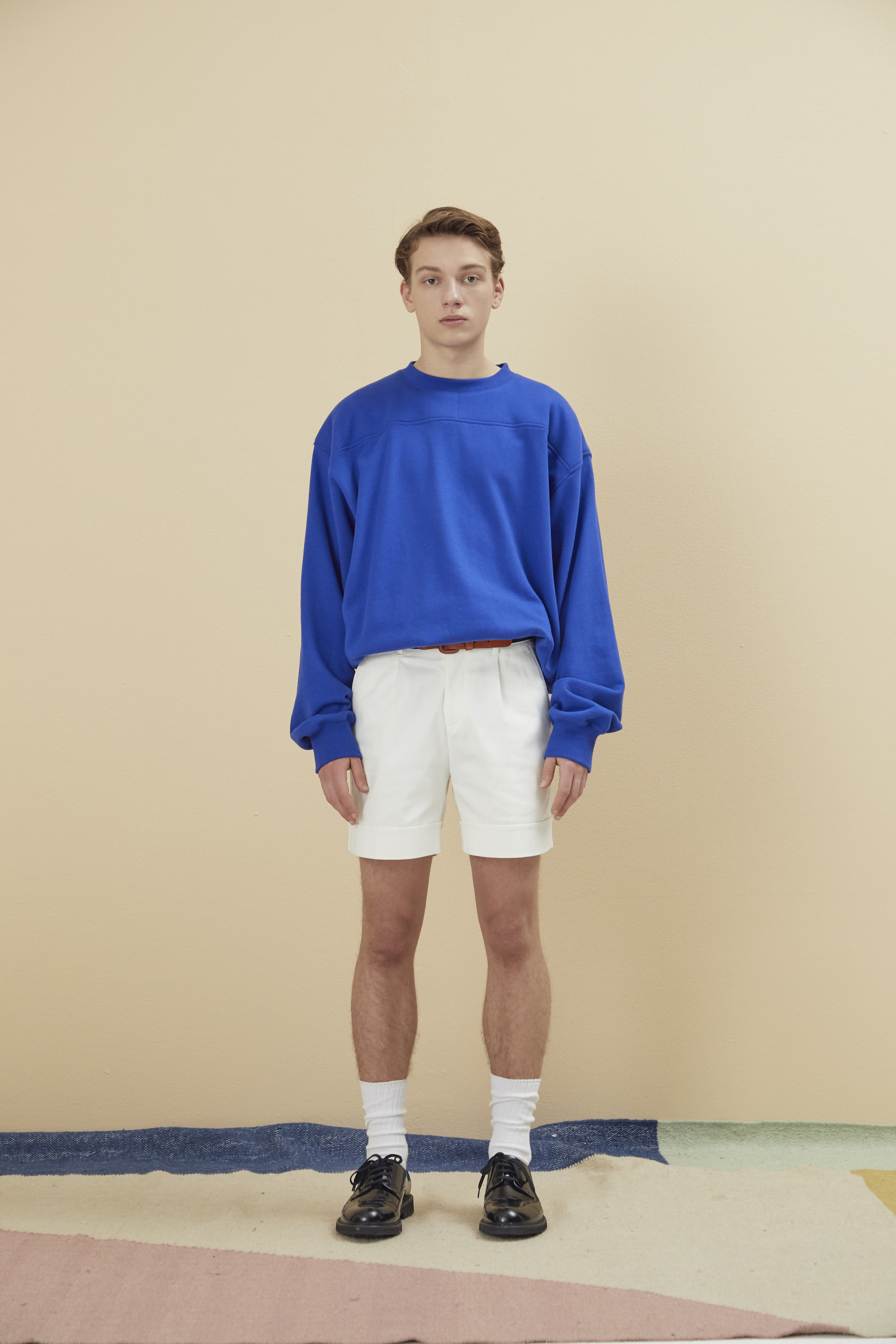 NAME LABEL PADDED SWEATSHIRT BLUE