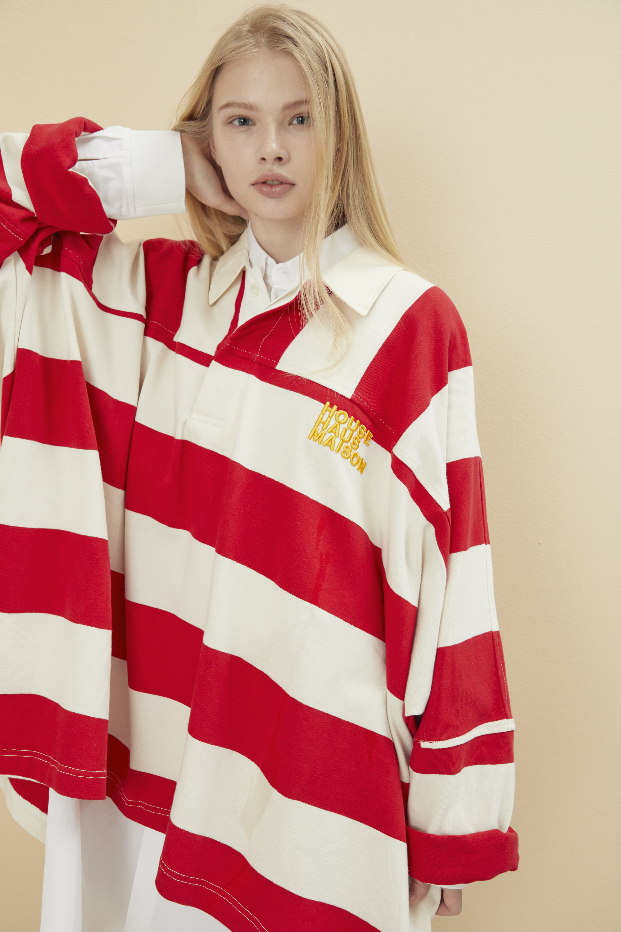 OVERSIZED RUGBY SHIRT RED
