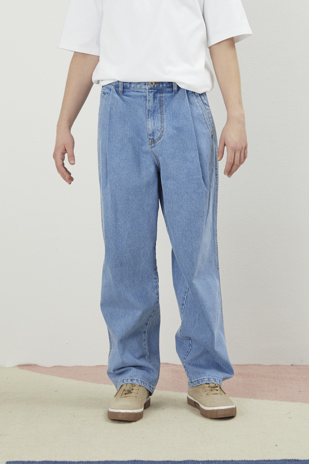 DO-NOT-REVERSE COTTON PANTS DENIM BLUE