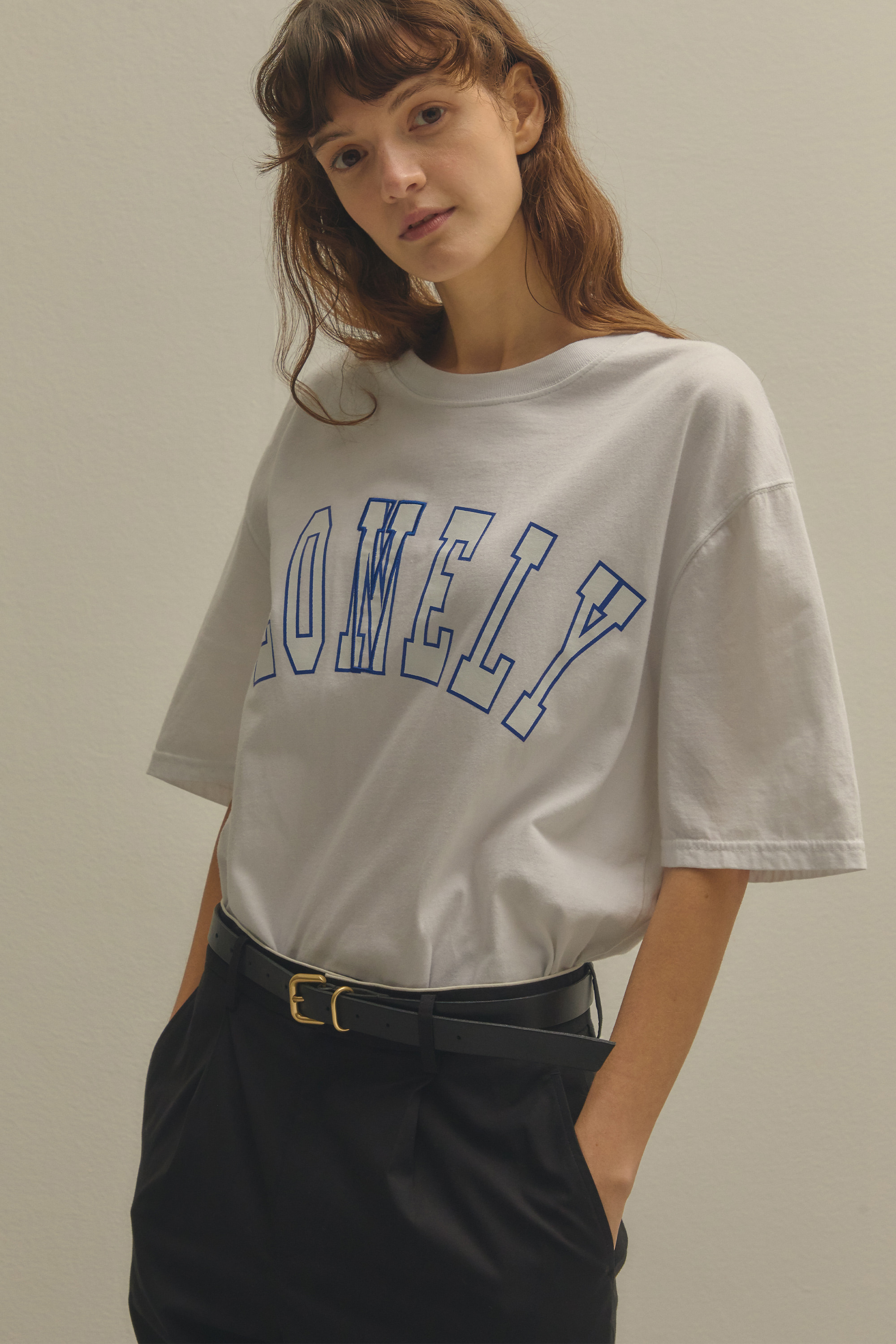 LONELY/LOVELY T SHIRT WHITE