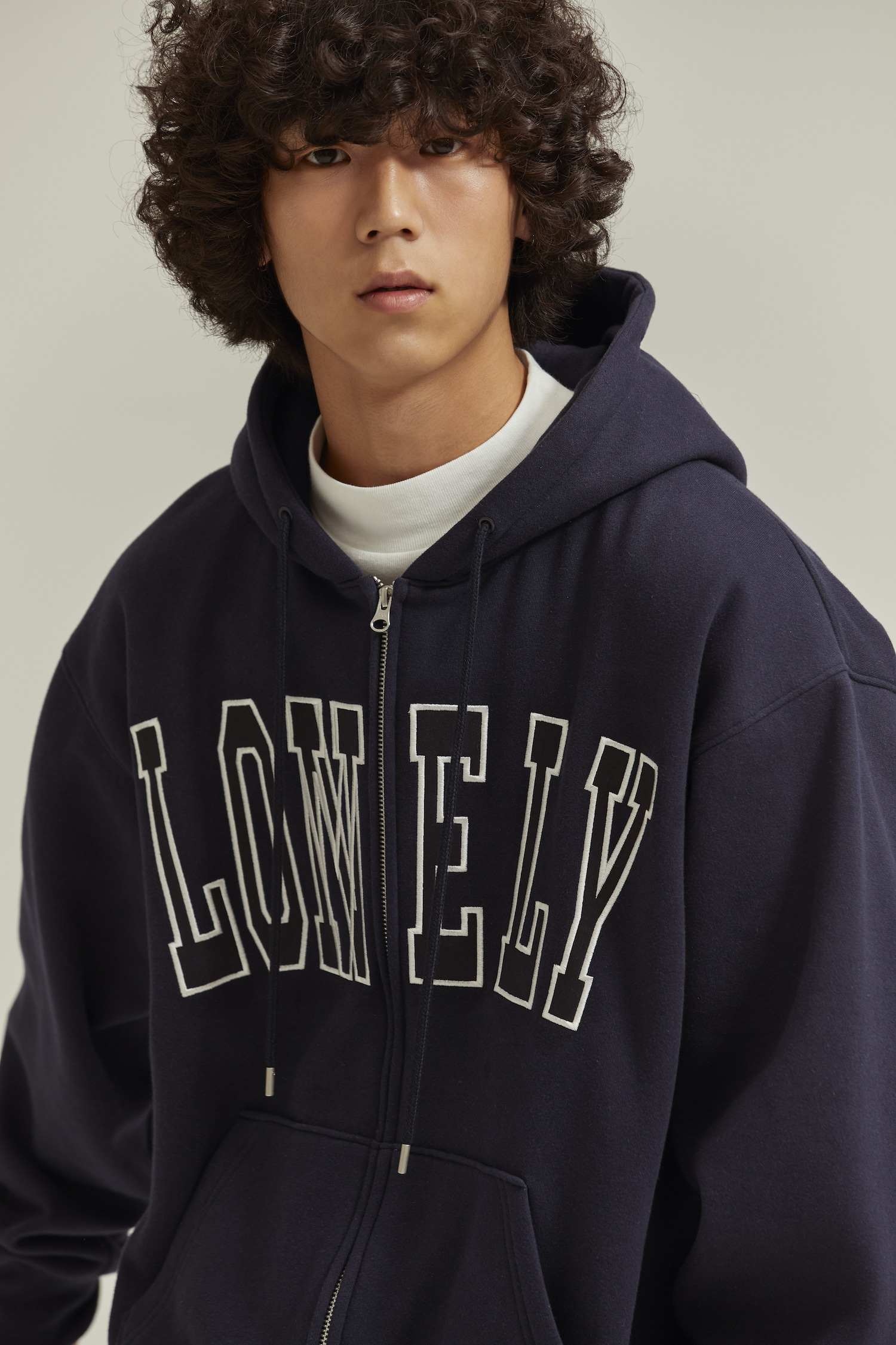 [재입고] LONELY/LOVELY HOODIE ZIP-UP NAVY