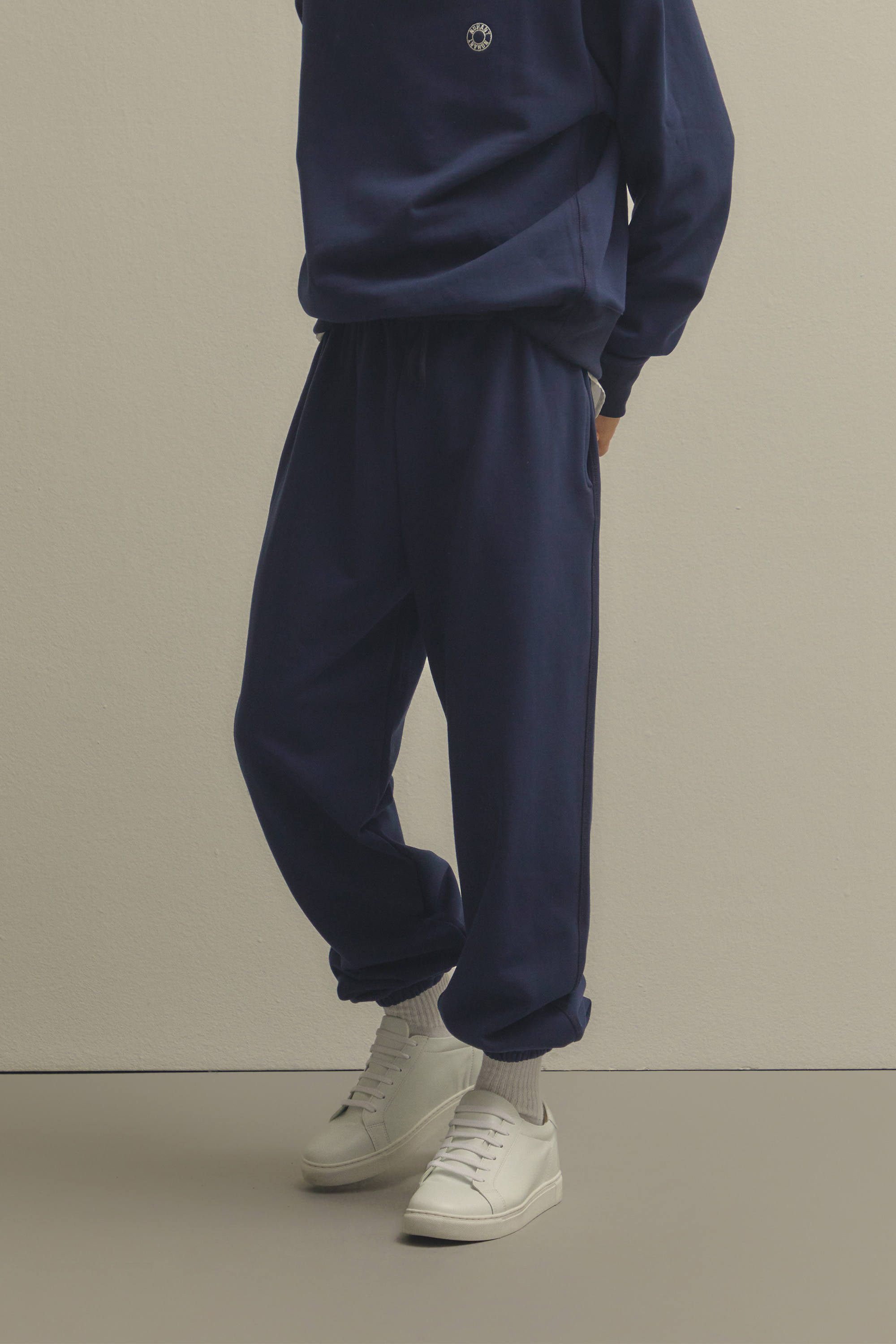 LOGO EMBROIDERY SWEATPANTS NAVY