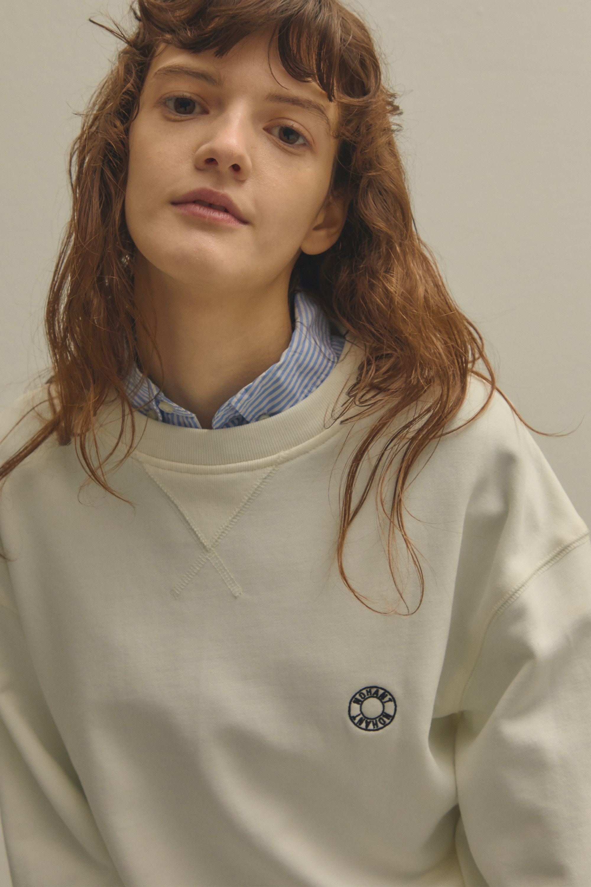 LOGO EMBROIDERY SWEATSHIRT WHITE